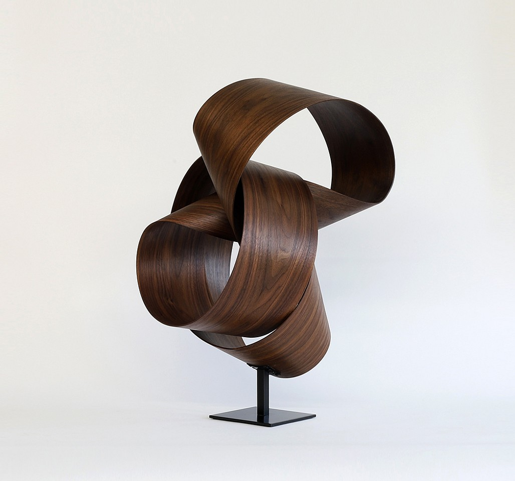 Jeremy Holmes, Walnut 4 (Sold) Black Walnut on metal base