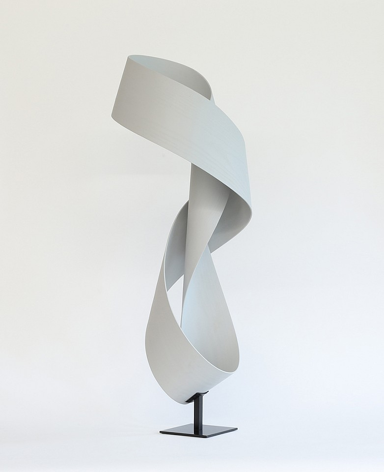 Jeremy Holmes, Sinuous 44 (Sold) Stained White Ash on metal base