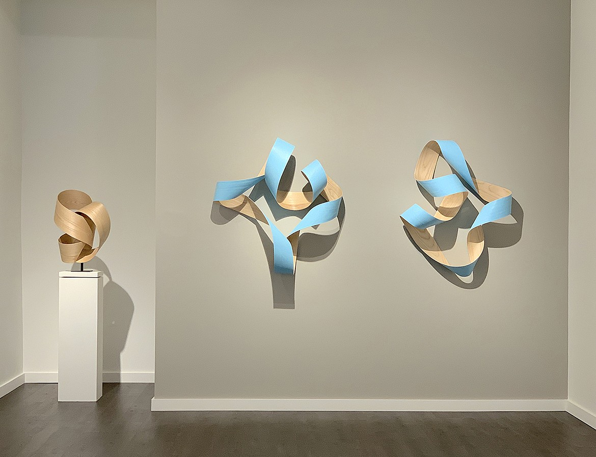 Jeremy Holmes, Untitled Light Blue Series Painted white ash
