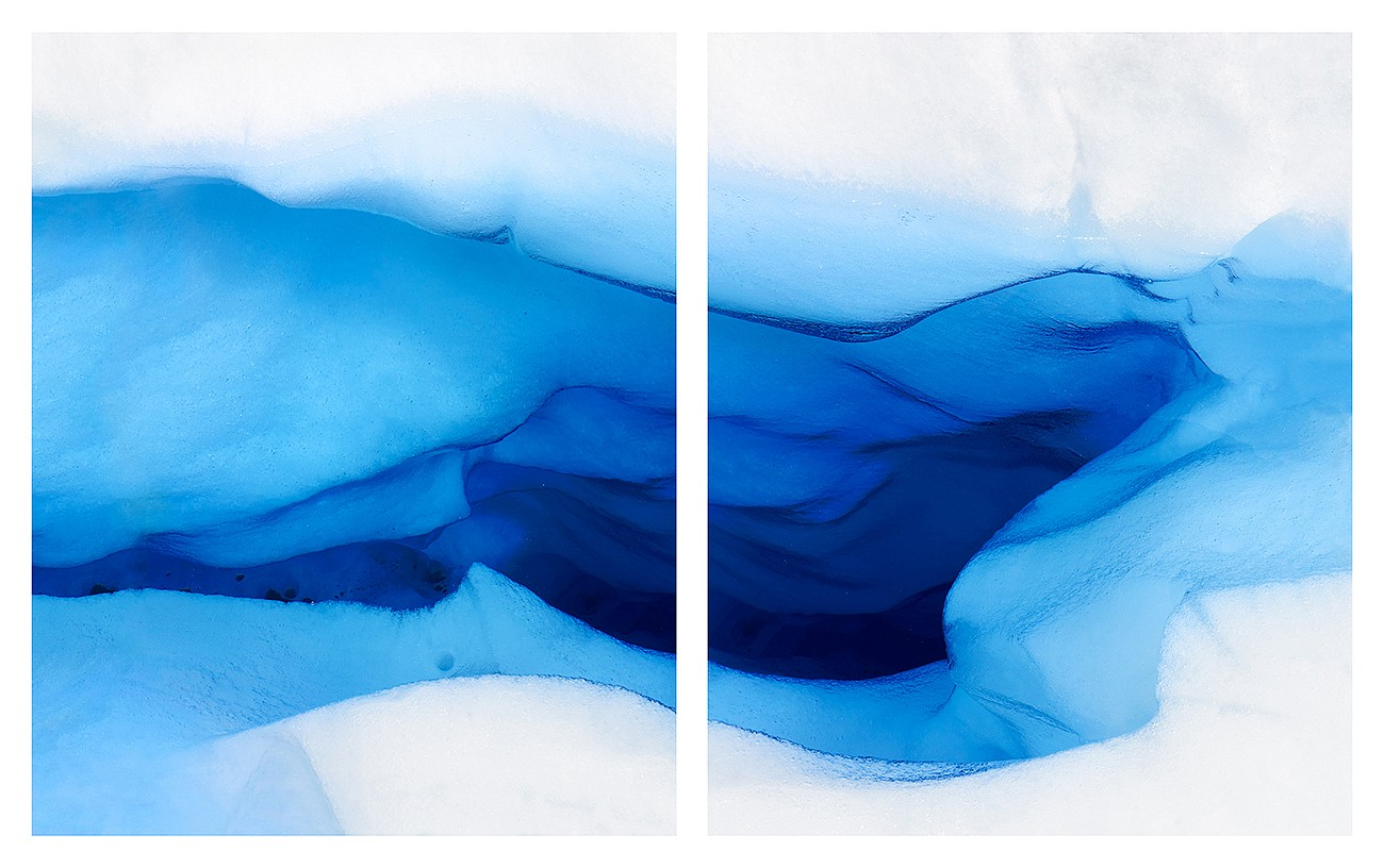Jonathan Smith ,   Glacier #22 (diptych)      Chromogenic print ,  30x48